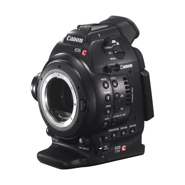 Canon EOS C100 Cinema Camera with Dual Pixel CMOS AF Feature Upgrade - Body Only