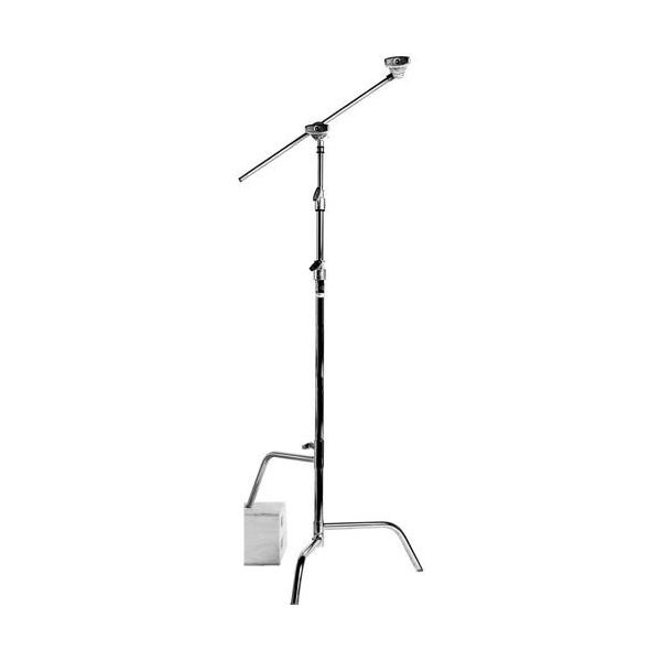 "Matthews Studio Equipment 40"" Chrome Hollywood C-Stand with Sliding Leg, Grip Head & Arm"