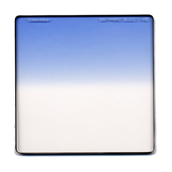 "Schneider Optics 6.6 x 6.6"" Graduated Sapphire Blue 1 Water White Glass Filter - Hard Edge"
