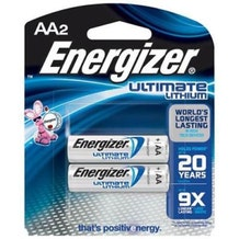 Energizer E2 AA Ultimate Lithium Photo Battery - 2 Pack