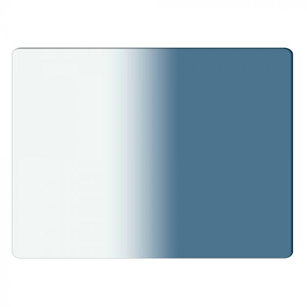 "Schneider Optics 4 x 5.65"" Graduated Storm Blue 3 Water White Glass Filter - Soft Edge with Vertical Orientation"
