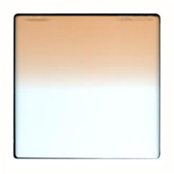 "Schneider Optics 6.6 x 6.6"" Graduated Coral 1/2 Water White Glass Filter - Hard Edge"