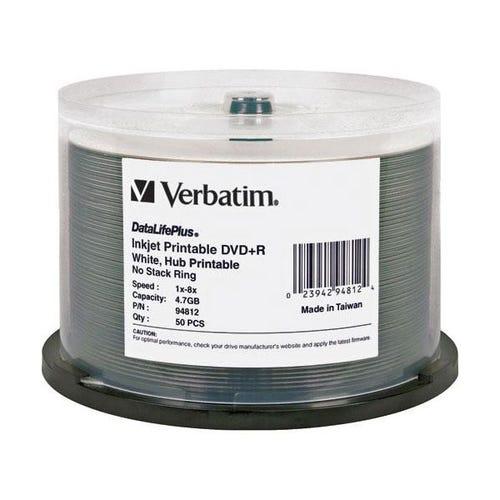 Verbatim 8X DataLifePlus White Inkjet Printable 5.7GB DVD+R - 50pc