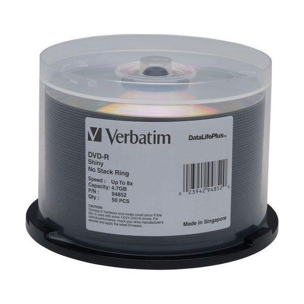 Verbatim 8X DataLifePlus Shiny Silver 4.7GB DVD-R - 50pc