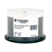Verbatim 8X DataLifePlus White Thermal Hub Printable 4.7GB DVD+R - 50pc