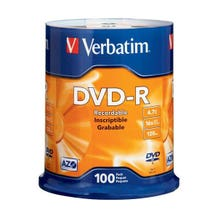 Verbatim AZO 16X Branded 4.7GB DVD-R - 100pc