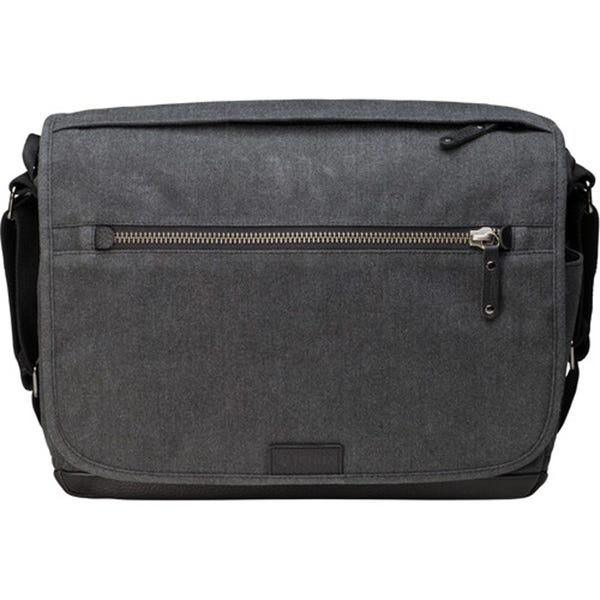 Tenba Cooper 13 DSLR Messenger Bag with Leather Accents - Grey