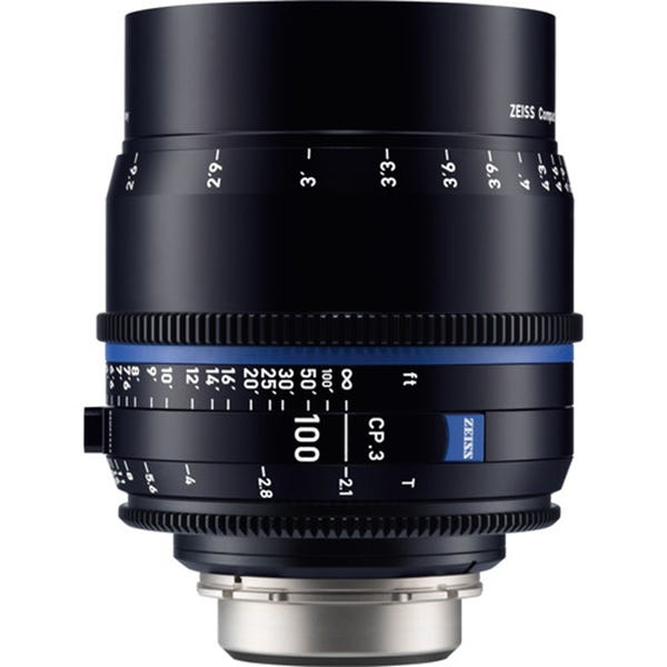 Zeiss CP.3 100mm T2.1 Compact Prime Lens - EF Mount