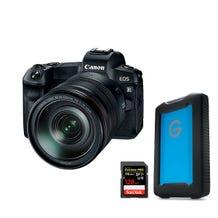 Canon EOS R Mirrorless Digital Camera With 24-105mm Lens Filmmaker Bundle