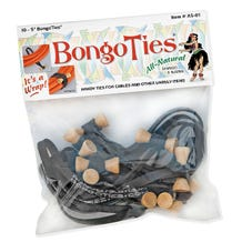 BongoTies Cable Ties - Black, 10 Pack