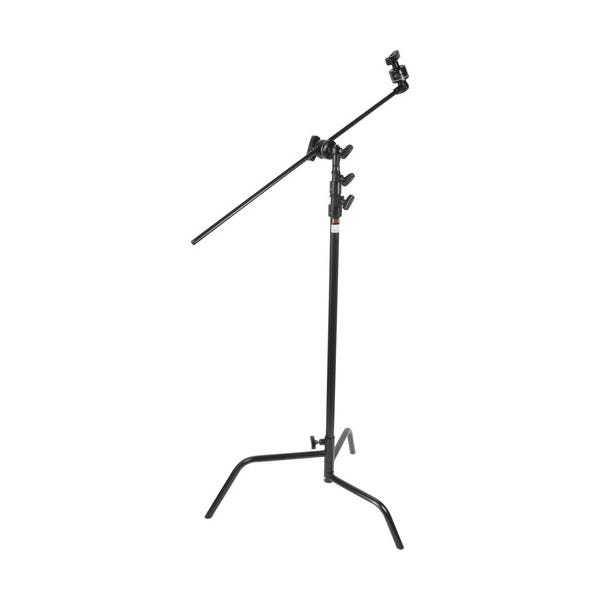 "Matthews Studio Equipment 40"" Black Hollywood C-Stand with Sliding Leg, Grip Head & Arm"