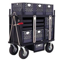 Backstage 4-Crate Horizontal Set Box Cart - Carefree Tires