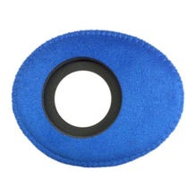 Bluestar Ultrasuede Eyepiece Cushions - Oval Large (Blue)