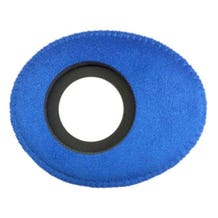 Bluestar Ultrasuede Eyepiece Cushions - Oval Long (Blue)