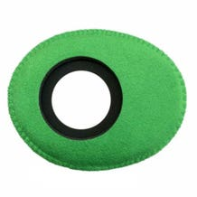 Bluestar Ultrasuede Eyepiece Cushions - Oval Long (Green)