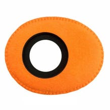 Bluestar Ultrasuede Eyepiece Cushions - Oval Long (Orange)