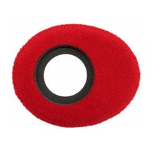 Bluestar Fleece Eyepiece Cushions - Oval Large (Red)