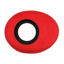 Bluestar Ultrasuede Eyepiece Cushions - Oval Large (Red)