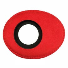 Bluestar Ultrasuede Eyepiece Cushions - Oval Long (Red)