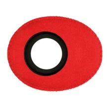 Bluestar Ultrasuede Eyepiece Cushions - Oval Small (Red)