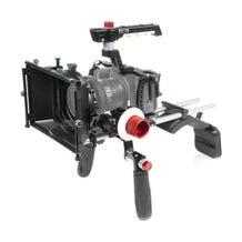 """SHAPE Cage Kit with Matte Box, Follow Focus, Shoulder Mount & 18"""" 15mm Rods for Blackmagic Design Pocket Cinema 6K & 4K"""