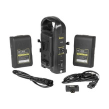 ikan Dual Pro Battery Charger with Two 95Wh V-Mount Batteries and USB Adapter