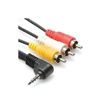 Hosa Technology Mini AV (Camcorder) to 3 RCA Composite Cable - 3'
