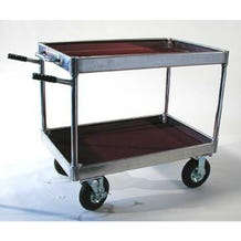 """Yaeger and Sons 26"""" x 39.75"""" Junior Collapsible Case Cart - 8"""" Wheels"""