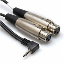 Hosa Technology Stereo Mini Angled Male to Two 3-Pin XLR Female Y-Cable (Various)