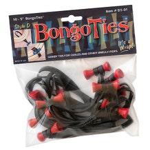 BongoTies Cable Ties - Lava, 10 Pack