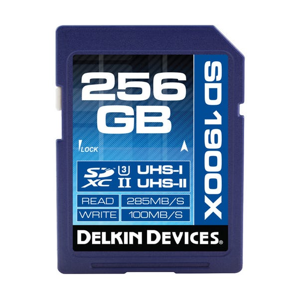 Delkin Devices 256GB UHS-II U3 SDXC Memory Card