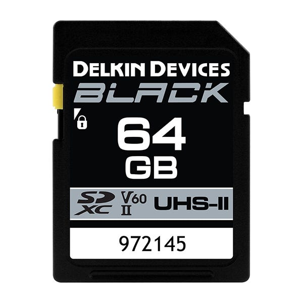 Delkin Devices 64GB BLACK UHS-II (U3/V60) SDXC Memory Card