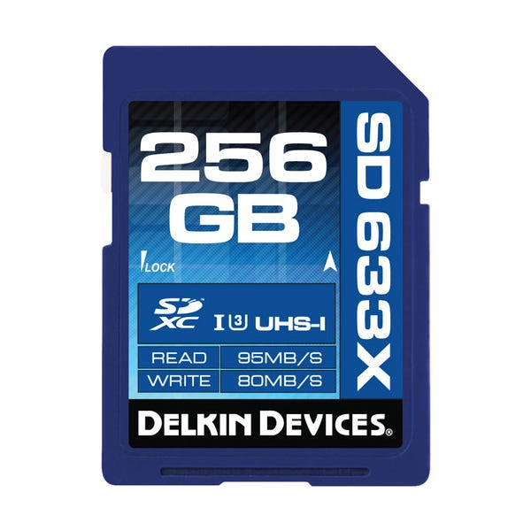 Delkin Devices 256GB Elite UHS-I SDXC Memory Card Class 10