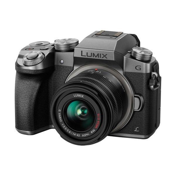 Panasonic Lumix DMC-G7 Mirrorless Micro Four Thirds Digital Camera with 14-42mm Lens - Silver