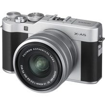FUJIFILM X-A5 Mirrorless Digital Camera with 15-45mm Lens - Silver