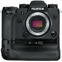 Fujifilm X-H1 Mirrorless Digital Camera With Vertical Power Booster Grip - Black