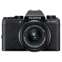 FUJIFILM X-T100 Mirrorless Digital Camera with 15-45mm Lens - Black