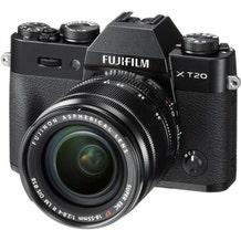 FUJIFILM X-T20 Mirrorless Digital Camera with fujinon aspherical Super EBC XF 18-55mm Lens - Black