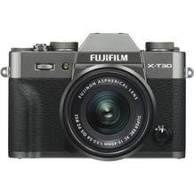FUJIFILM X-T30 Mirrorless Digital Camera with 15-45mm Lens - Charcoal Silver