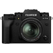 Fujifilm X-T4 Mirrorless Digital Camera with Fujinon Aspherical 18-55mm Lens - Black