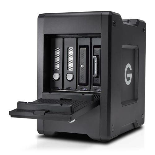 G-Technology 24TB G-SPEED Shuttle 4-Bay Thunderbolt 3 RAID Array with Two ev Bay Adapters