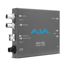 AJA Hi5-12G-R 12G-SDI to HDMI 2.0 Mini-Converter with Fiber LC Receiver