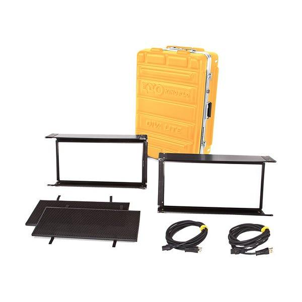 Kino Flo Diva-Lite LED 20 DMX 2-Light Kit with Flight Case