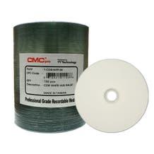 CMC Pro Taiyo Yuden 52X White Inkjet Printable CD-R - 100pc