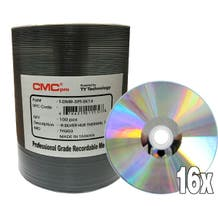 CMC Pro Taiyo Yuden 16X Silver Thermal Hub Printable Everest 4.7GB DVD-R Shrinkwrap - 100pc