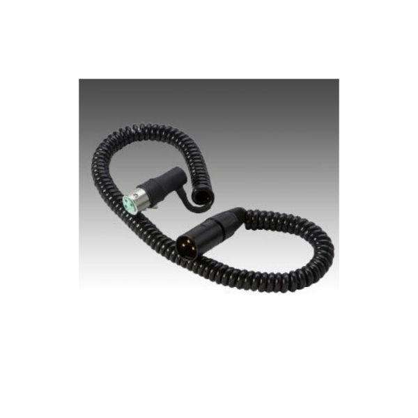 K-Tek 9ft XLR Male to Right Angle XLR Female Coiled Cable K18NK