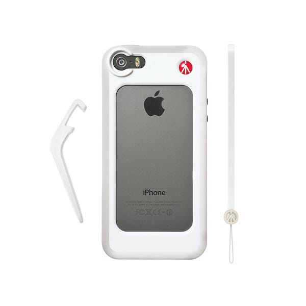 Manfrotto KLYP+ Photographic Bumper Case with Kickstand for Apple iPhone 5/5s - White