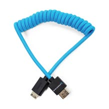 "Kondor Blue Coiled Mini-HDMI to HDMI Cable (12 to 24"")"