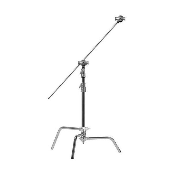 "Kupo 20"" Chrome Master C-Stand with Sliding Leg, Grip Head & Arm"
