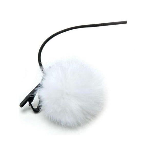 K-Tek Fuzzy Shower Cap for Lavalier Mic - White KLTFW
